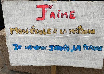 Panneau de la manifestation du 5 décembre