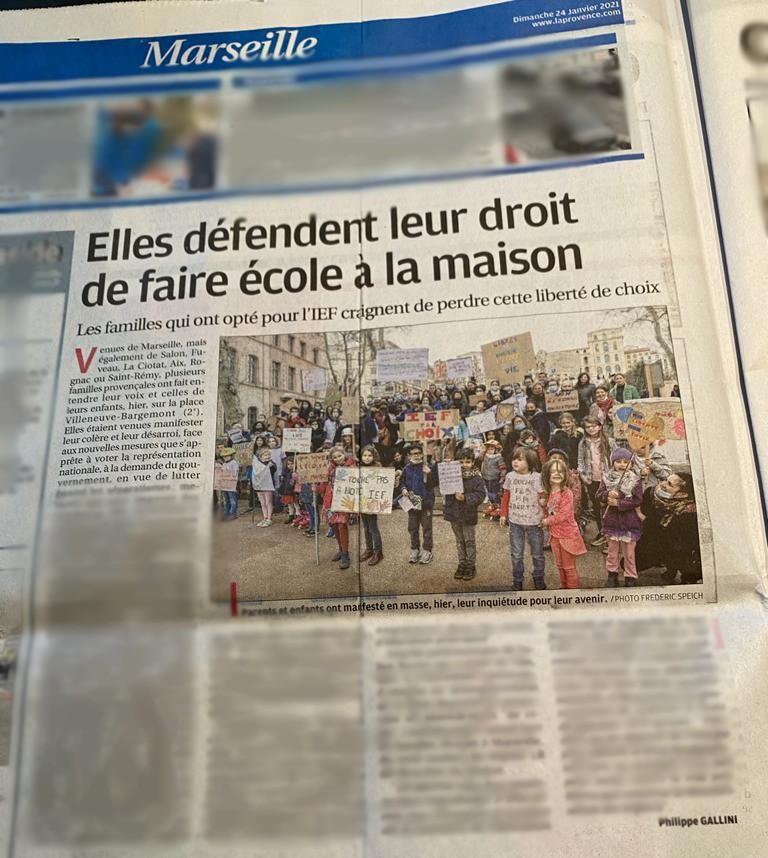 Article flouté de La Provence du 24 janvier 2021